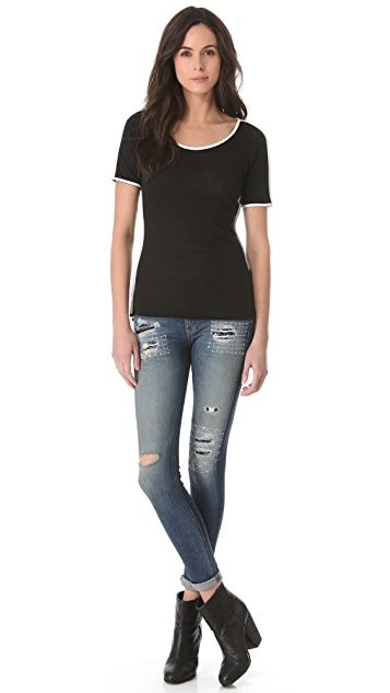 Rag & Bone The Piped Tee