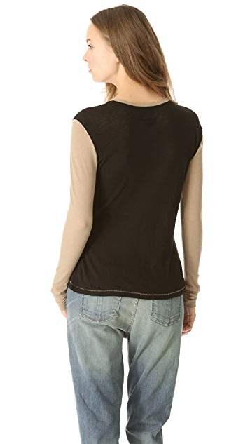 Rag & Bone Shadow Long Sleeve Tee