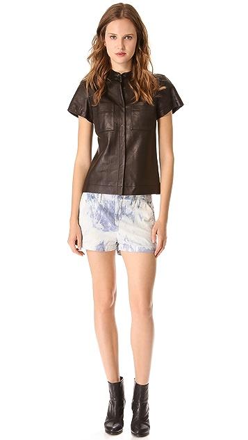Rag & Bone Adele Leather Shirt