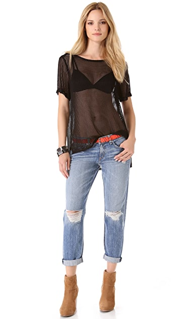 Rag & Bone Bettina Mesh Top