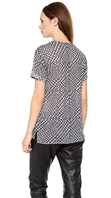 Rag & Bone Print Pocket Tee