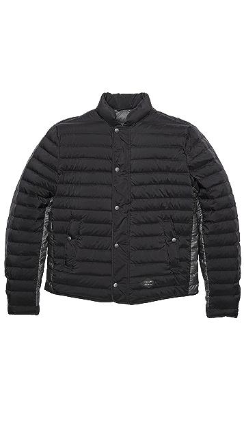 Rag & Bone Chelsea Narrow Horz Quilt Snap Front Jacket