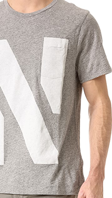 Rag & Bone Alphabet Crew T-Shirt