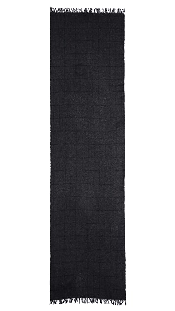Rag & Bone Cube Stripe Check Scarf