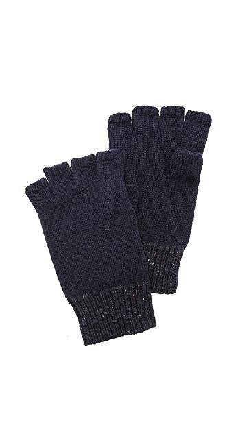 Rag & Bone Teddy Fingerless Knit Gloves