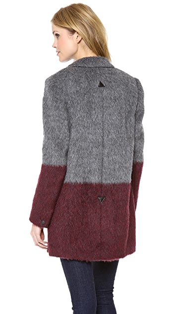 Rag & Bone Colorblock Dust Bowl Coat