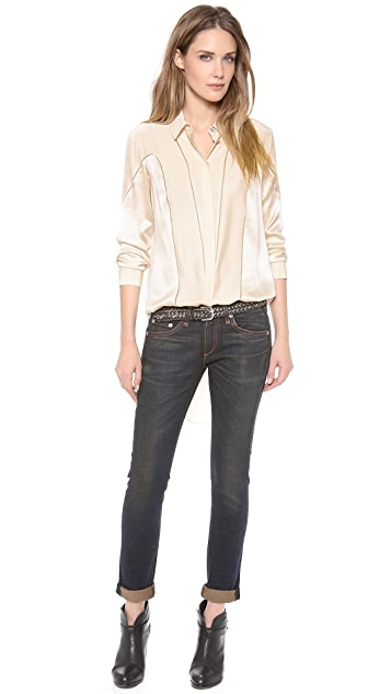 Rag & Bone Laura Long Sleeve Top