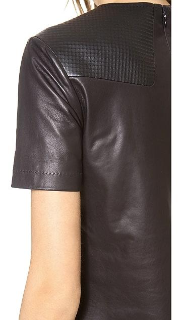 Rag & Bone Aviemore Leather Top