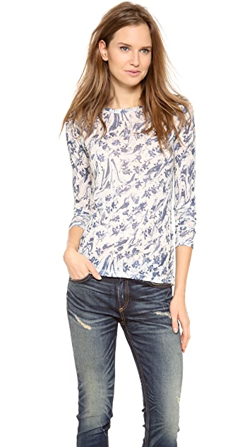 Rag & Bone The Burnout Long Sleeve Tee