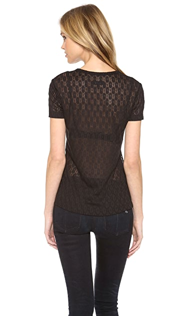 Rag & Bone Lace Crew Neck Tee