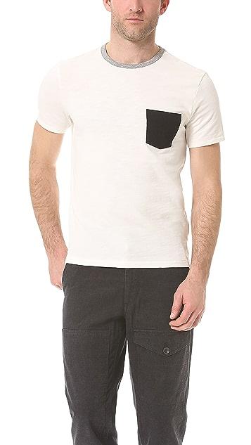 Rag & Bone Colorblock Pocket T-Shirt