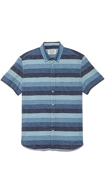 Rag & Bone Short Sleeve Oxford Shirt