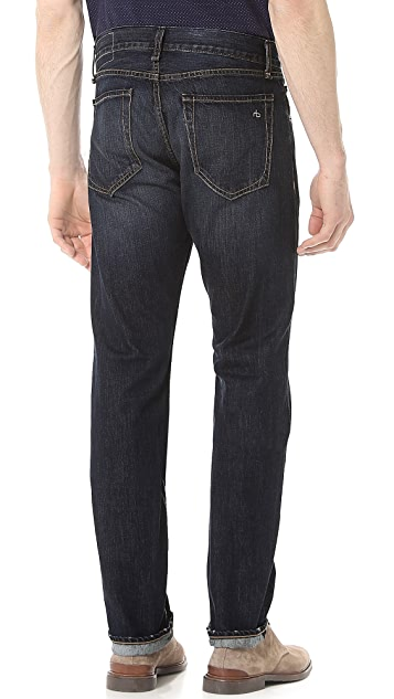Rag & Bone RB15X Berkely Slim Straight Fit Jeans