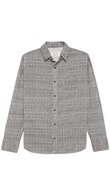 Rag & Bone Grainstripe Classic Shirt