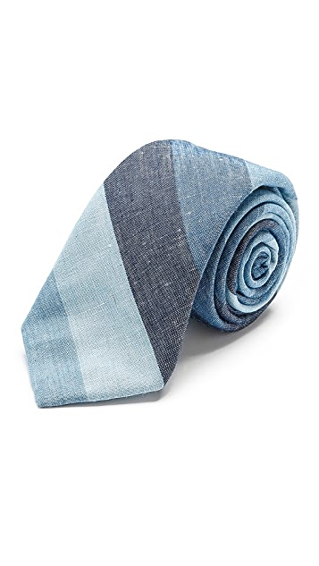 Rag & Bone Blue Stripe Tie