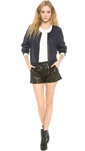Rag & Bone Angelica Leather Trim Cardigan
