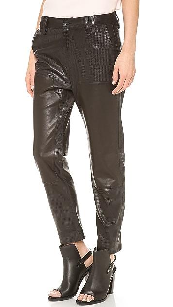 Rag & Bone Leather Carpenter Pants