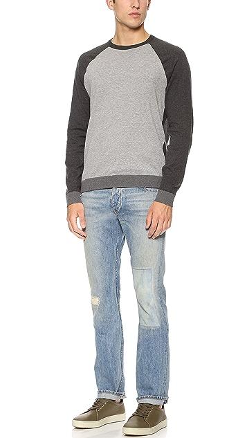 Rag & Bone Luke Baseball Sweater