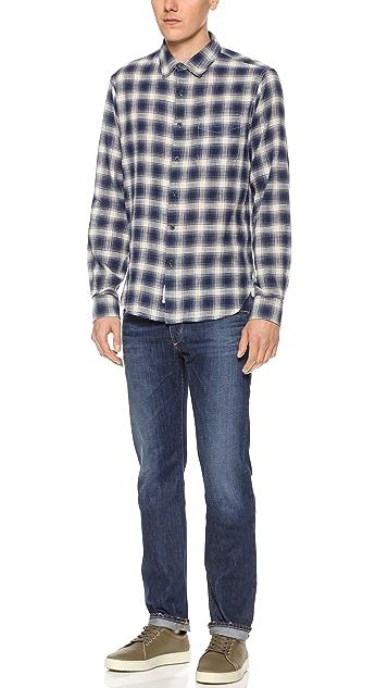 Rag & Bone Multi-Plaid Beach Shirt