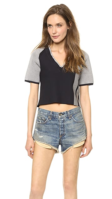 Rag & Bone Sammi V Neck Crop Top