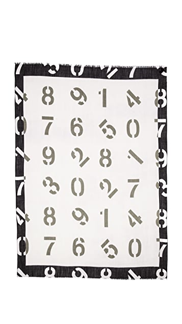 Rag & Bone Numerical Scarf