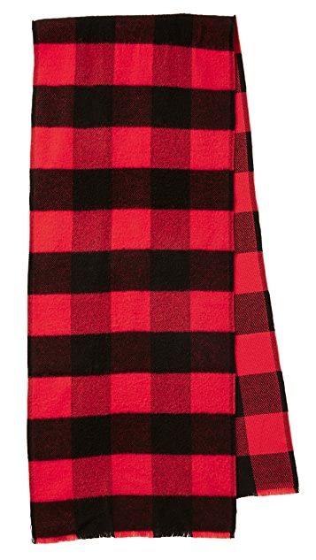 Rag & Bone Pixel Plaid Scarf