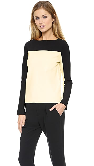 Rag & Bone Roxy Slash Neck Top