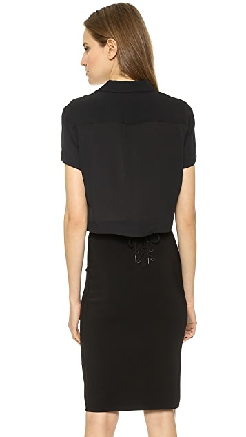 Rag & Bone Cropped League Shirt