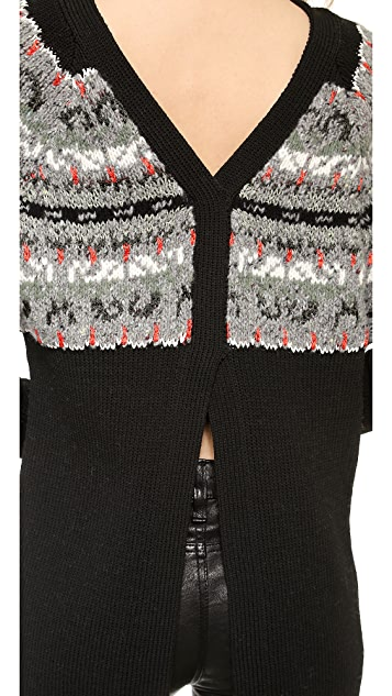 Rag & Bone Adelina Split Back Sweater