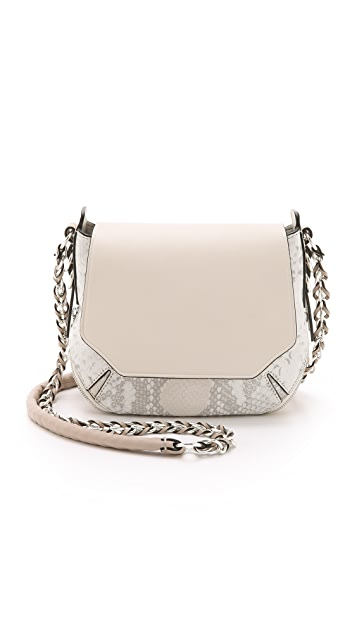 Rag & Bone Python Printed Bradbury Mini Chain Hobo Bag