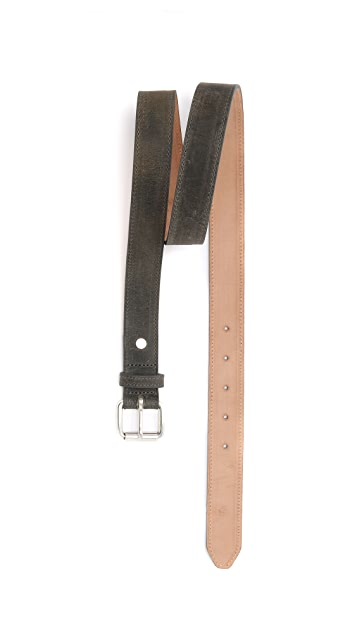 Rag & Bone Roller Buckle Suede Belt