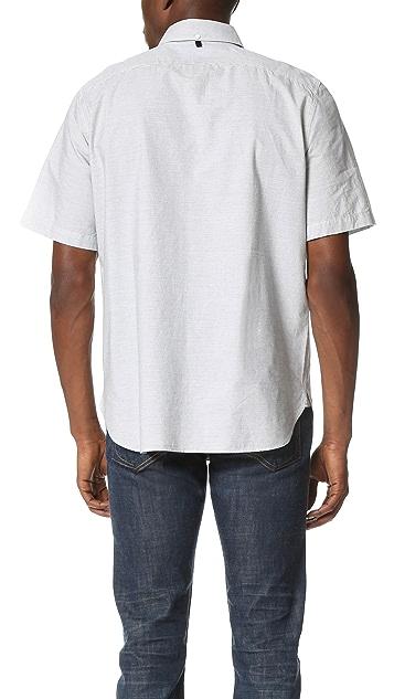 Rag & Bone Short Sleeve Button Down Oxford Shirt