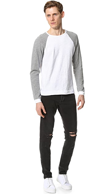 Rag & Bone Standard Issue Long Sleeve Colorblock Raglan Tee