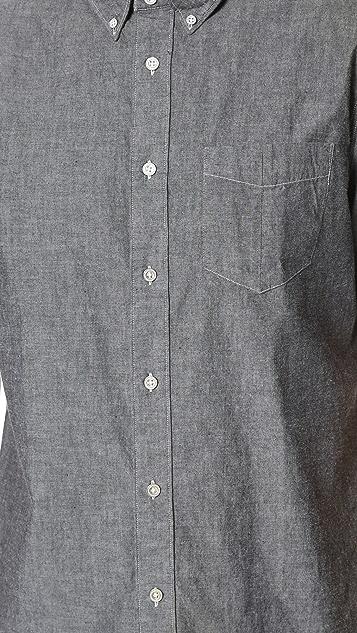 Rag & Bone Standard Issue Short Sleeve Standard Issue Chambray Shirt