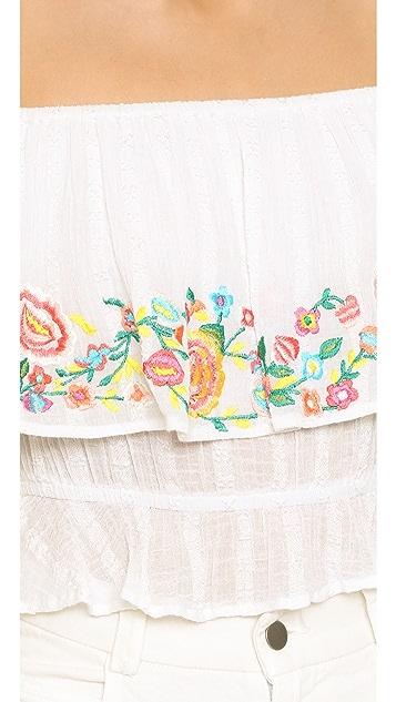 Rahi Embroidered Off Shoulder Top