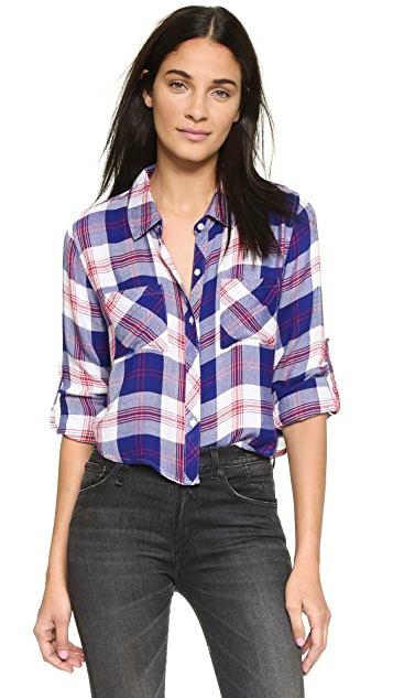 RAILS Rian Cropped Button Down Shirt