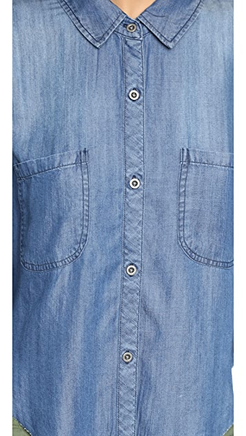 RAILS Carter Denim Cutoff Buttondown