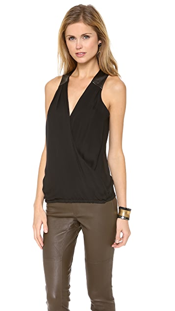 Ramy Brook April Draped Front Blouse