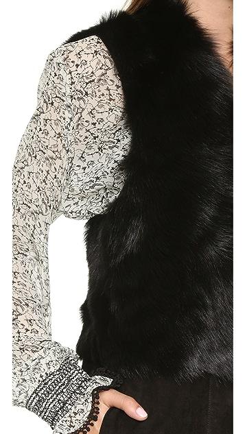 Ramy Brook Gabby Reversible Shearling Vest