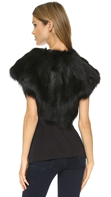 Ramy Brook Fiona Fur Shrug
