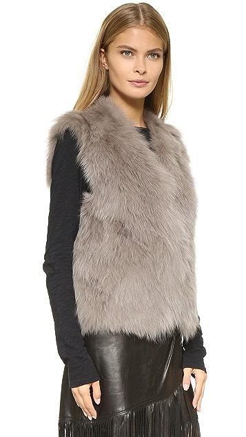 Ramy Brook Daniella Fur Vest