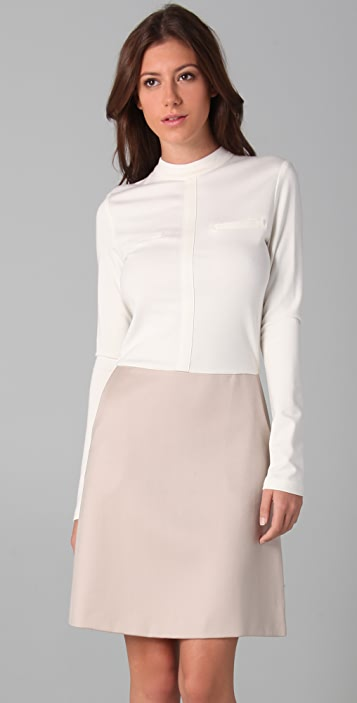 Raoul Long Sleeve Combo Dress