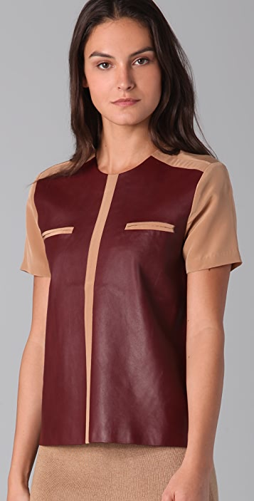 Raoul Graphic Leather Tee