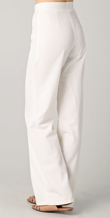 Raoul Leather Paneled Pants