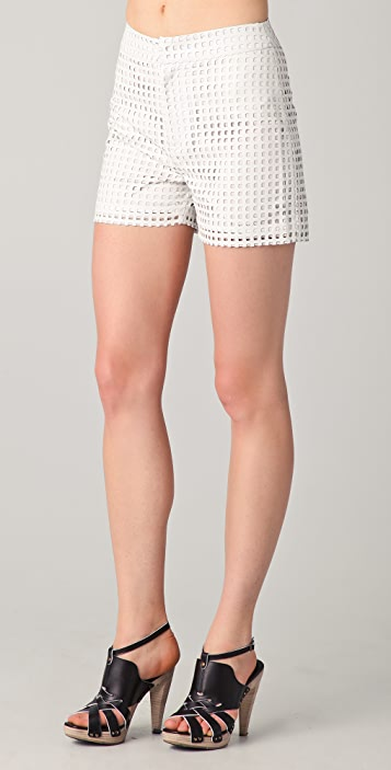 Raoul Perf Leather Shorts
