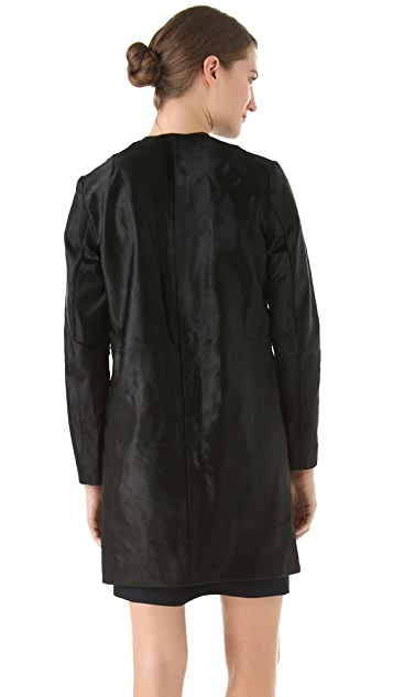 Raoul Collarless Haircalf Coat