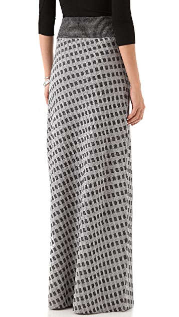 Raoul Diamond Knit Maxi Skirt