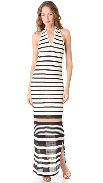 Raoul Stripe Halter Dress