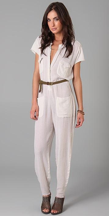 Raquel Allegra Short Sleeve Jumpsuit