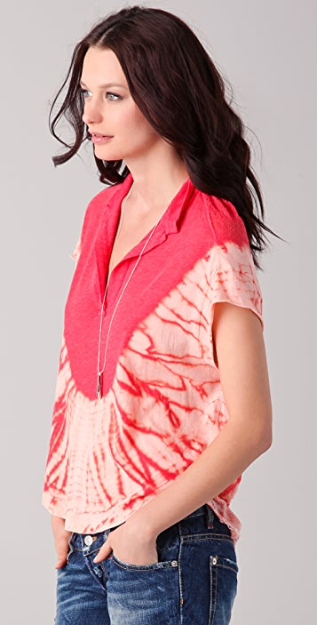 Raquel Allegra Short Sleeve Tie Dye Polo